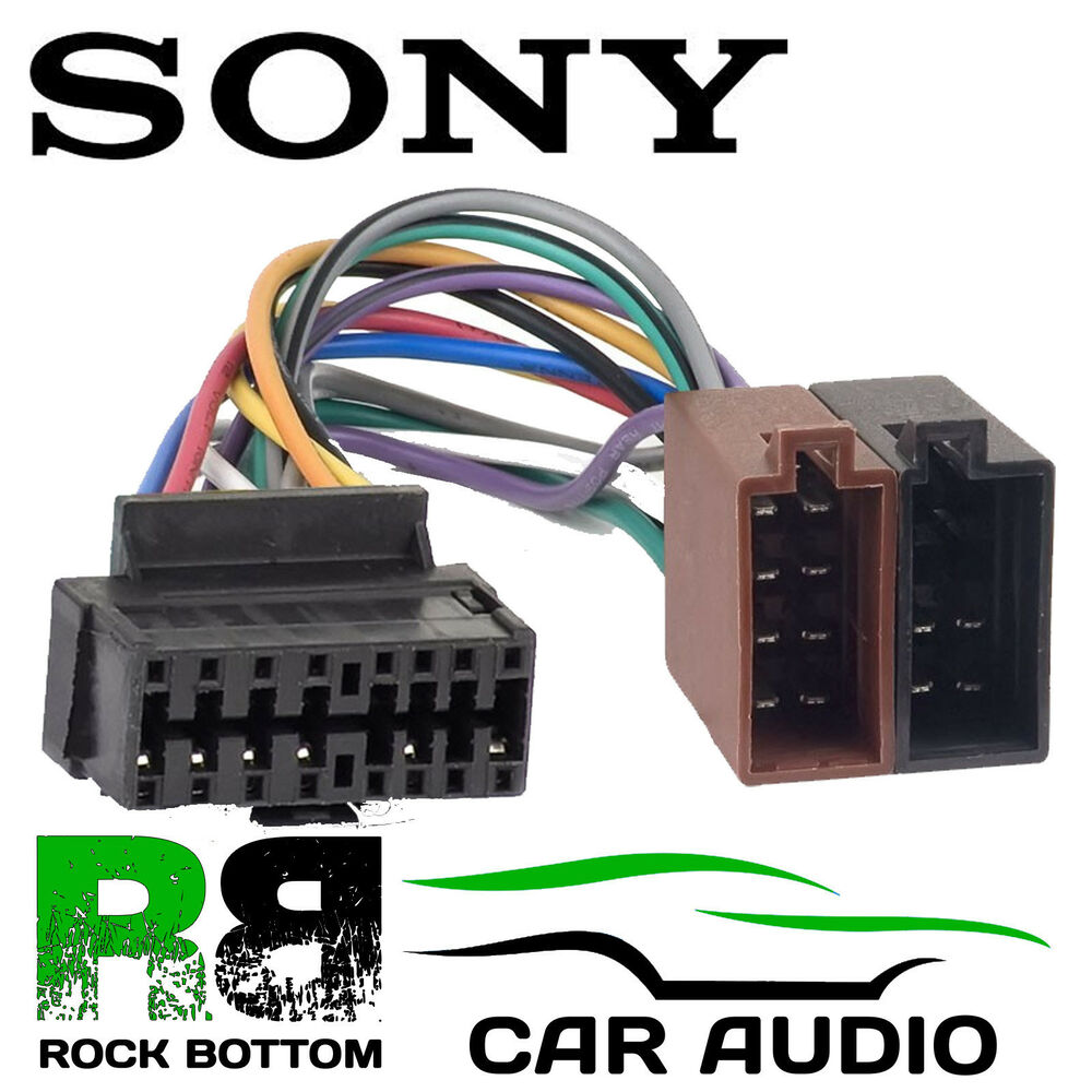 sony cdx gt20 car radio stereo 16 pin wiring harness loom iso lead sony cdx gt20 car radio stereo 16 pin wiring harness loom iso lead adaptor
