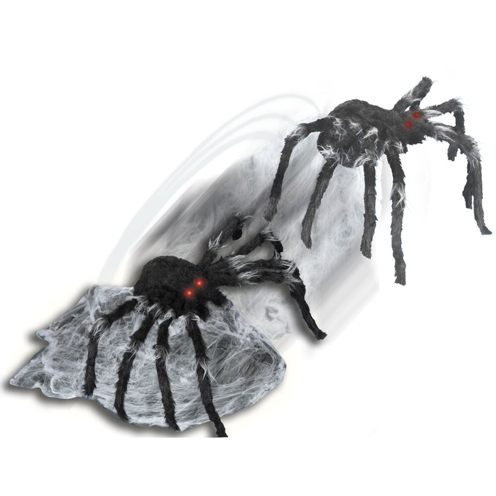 Original animated jumping spider prop halloween quality for Animated spider halloween decoration