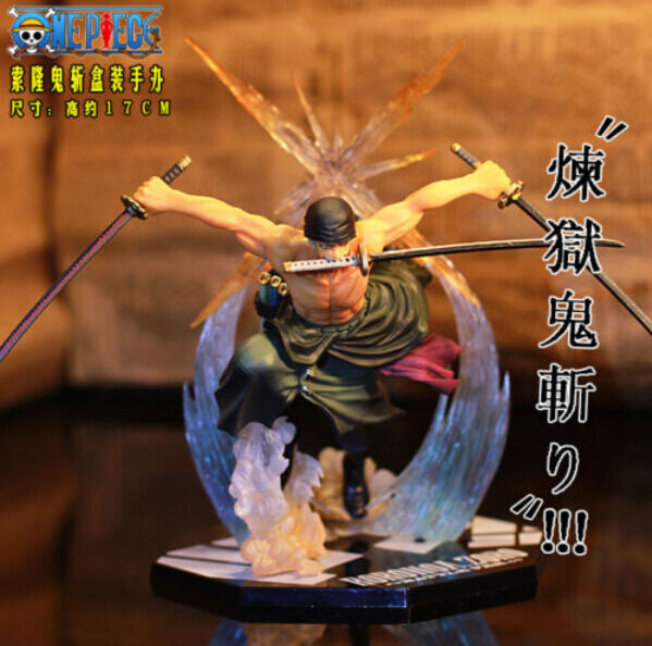 One Piece 2 Years Later Fighting ZORO Pvc Figures Doll Toy