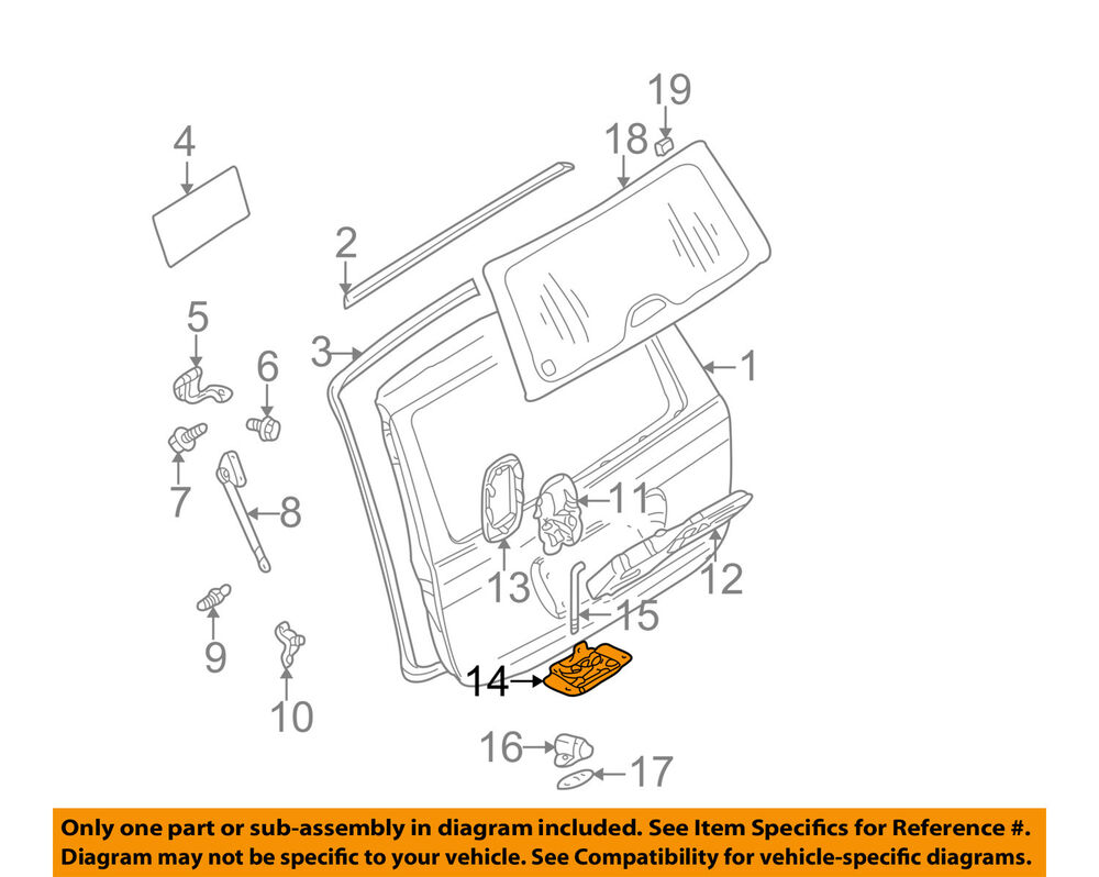 Mercedes oem 98 03 ml320 liftgate lock 1637400235 ebay for Oem mercedes benz parts online