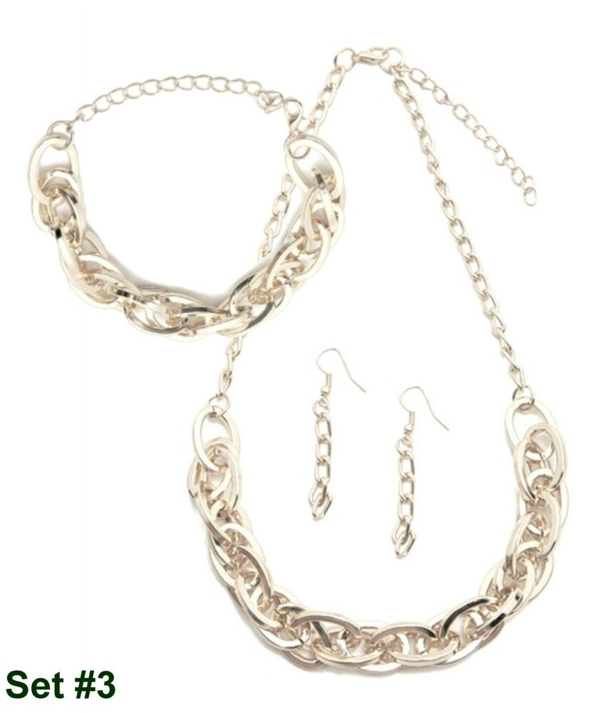 Silver Chain Link Bracelet: Gift Boxed Large Silver Chunky Chain Link Necklace
