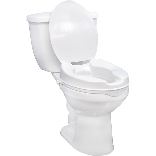 Raised Toilet Seat With Lock And Lid With Lid 2 Inches