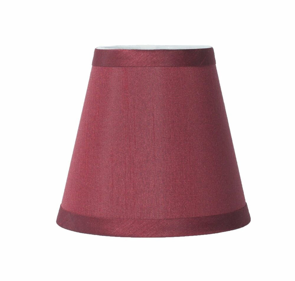 burgundy mini chandelier lamp shade 5 inch hardback clip on ebay. Black Bedroom Furniture Sets. Home Design Ideas