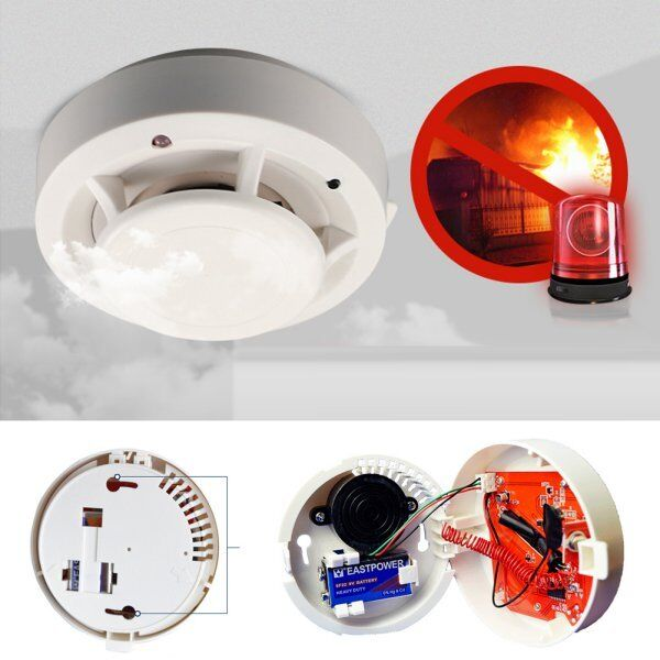 new wireless smoke detectors 85db m fire sensor system for home alarm security ebay. Black Bedroom Furniture Sets. Home Design Ideas