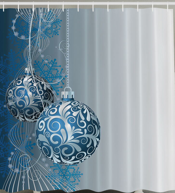 Blue white hanging christmas ball ornament quot fabric