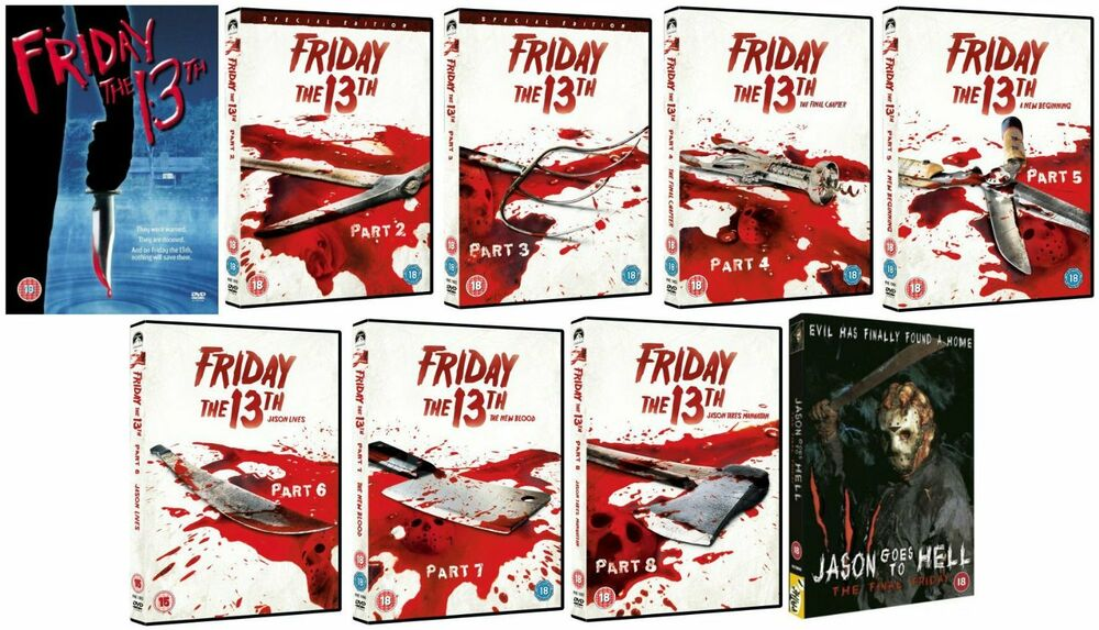 Friday the 13th complete movie collection dvd set part 1 2 for Film maroc chambra 13 complet