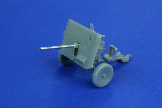 German 50 Mm Anti Tank Gun: 1/35 Scale 40mm QF 2 Pdr L/50 Metal Barrel Upgrade British