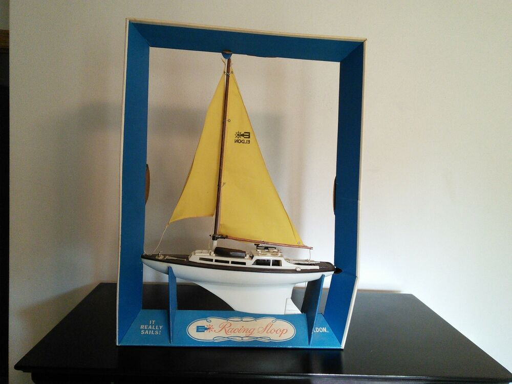 1964 eldon racing sloop toy sail boat unused original box for Boat mailbox