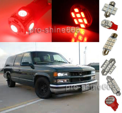 1995 Gmc Vandura G1500 Interior: 12X Red LED Lights Interior Package Kit For 1995-1999