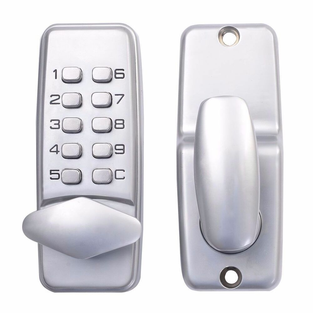 keyless mechanical code keypad door lock password entry ebay. Black Bedroom Furniture Sets. Home Design Ideas