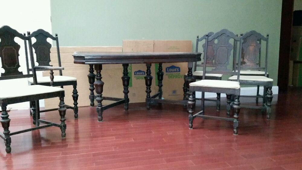 Very nice antique dining room set ebay for Antique dining room furniture
