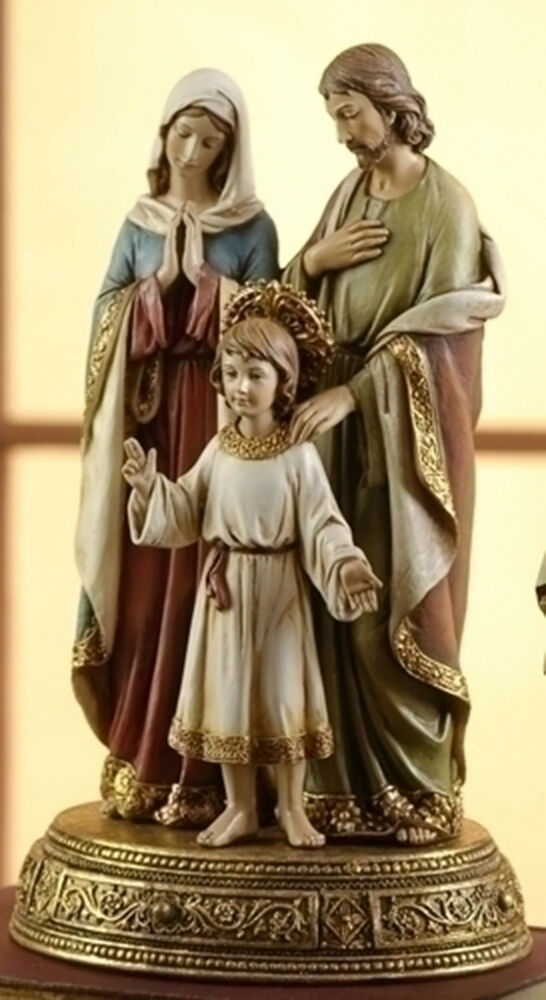 Quot holy family figure on base statue mary jesus st