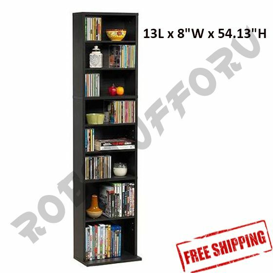 Multimedia storage tower cabinet wall rack cd dvd shelves In wall dvd storage