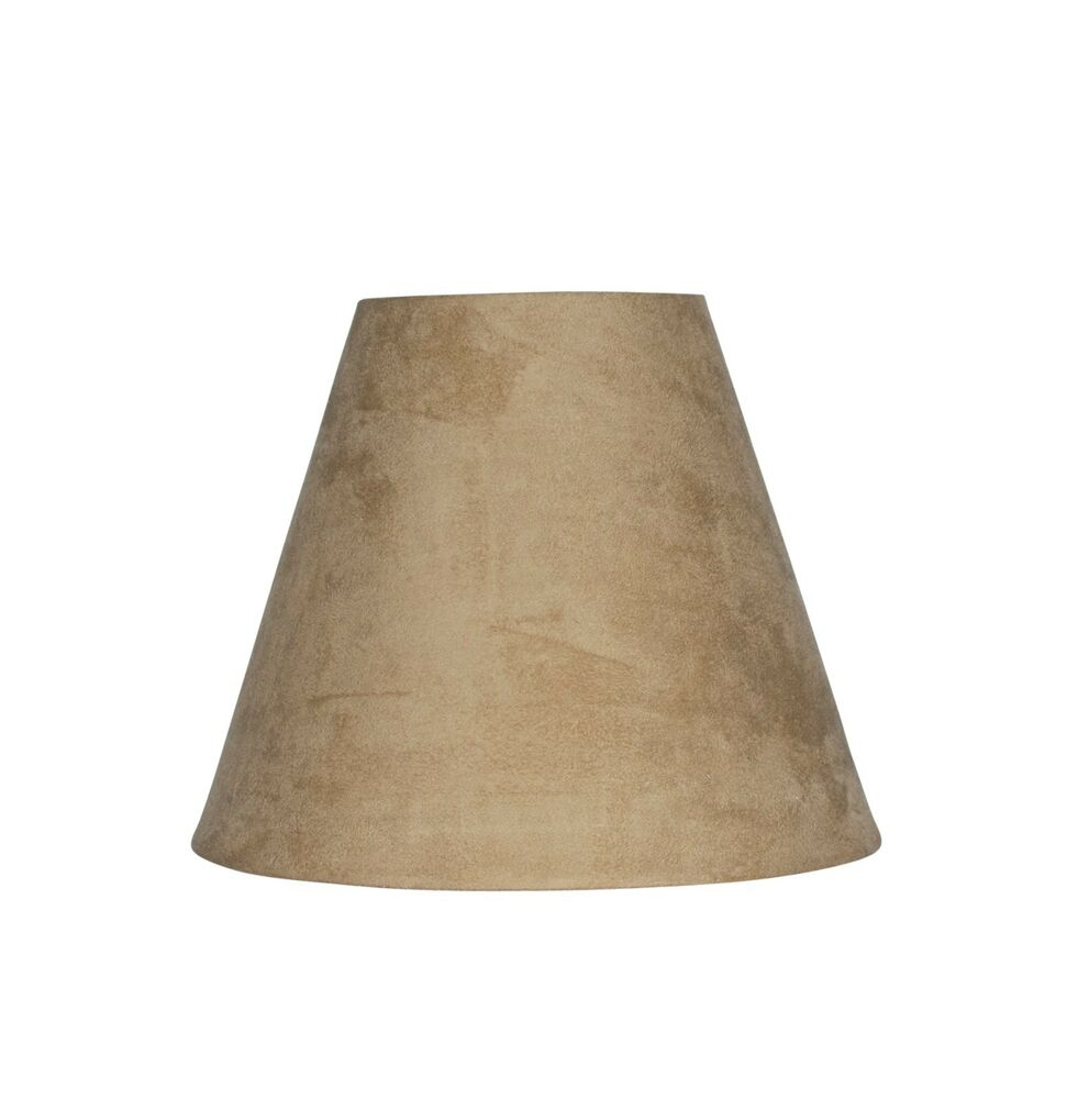 urbanest 6 inch suede clip on chandelier lamp shade tan ebay. Black Bedroom Furniture Sets. Home Design Ideas