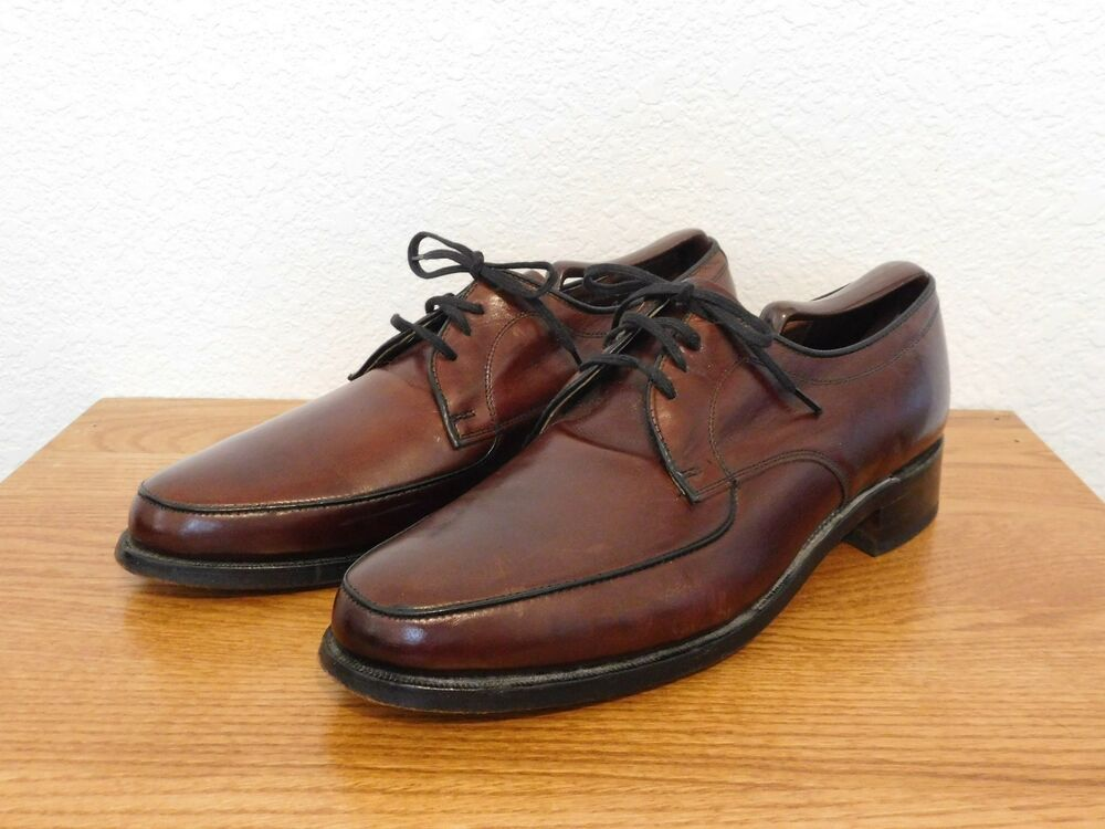 vintage hanover oxford leather shoes made in the usa size