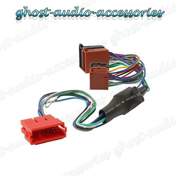 Audi A3 Amplified Active ISO Radio / Stereo harness / adapter ...