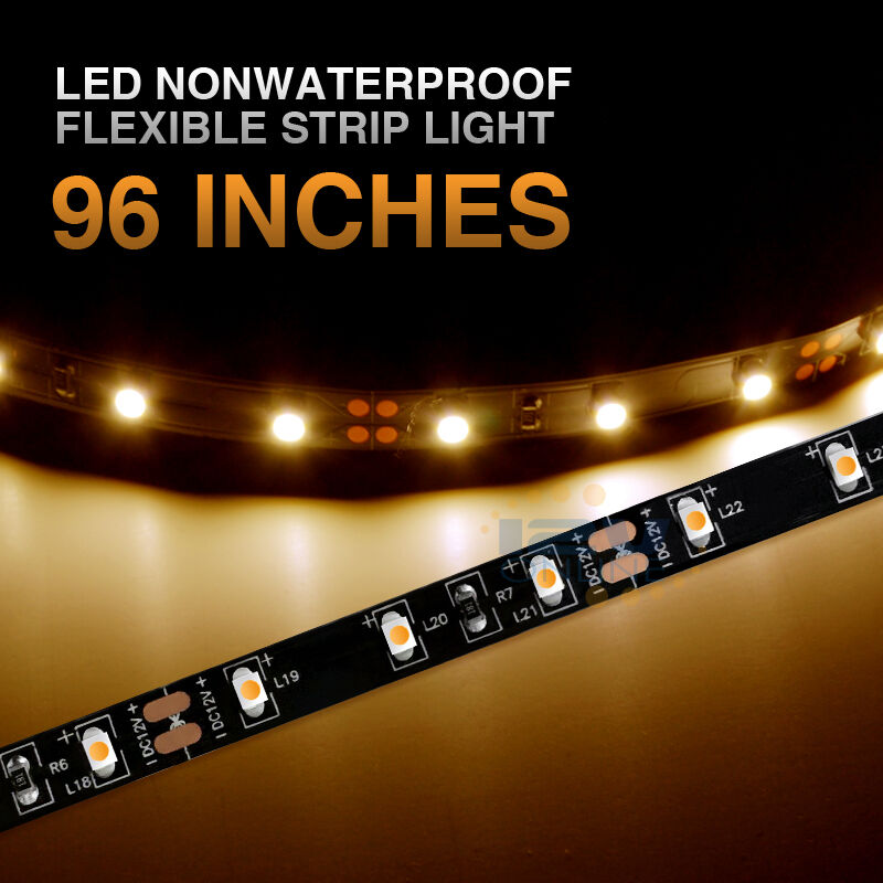"12v Led Under Cabinet Counter Strip Light Rv Camper: 12V LED 96""Bright 3528 Flexible Strip Light RV Caravan"