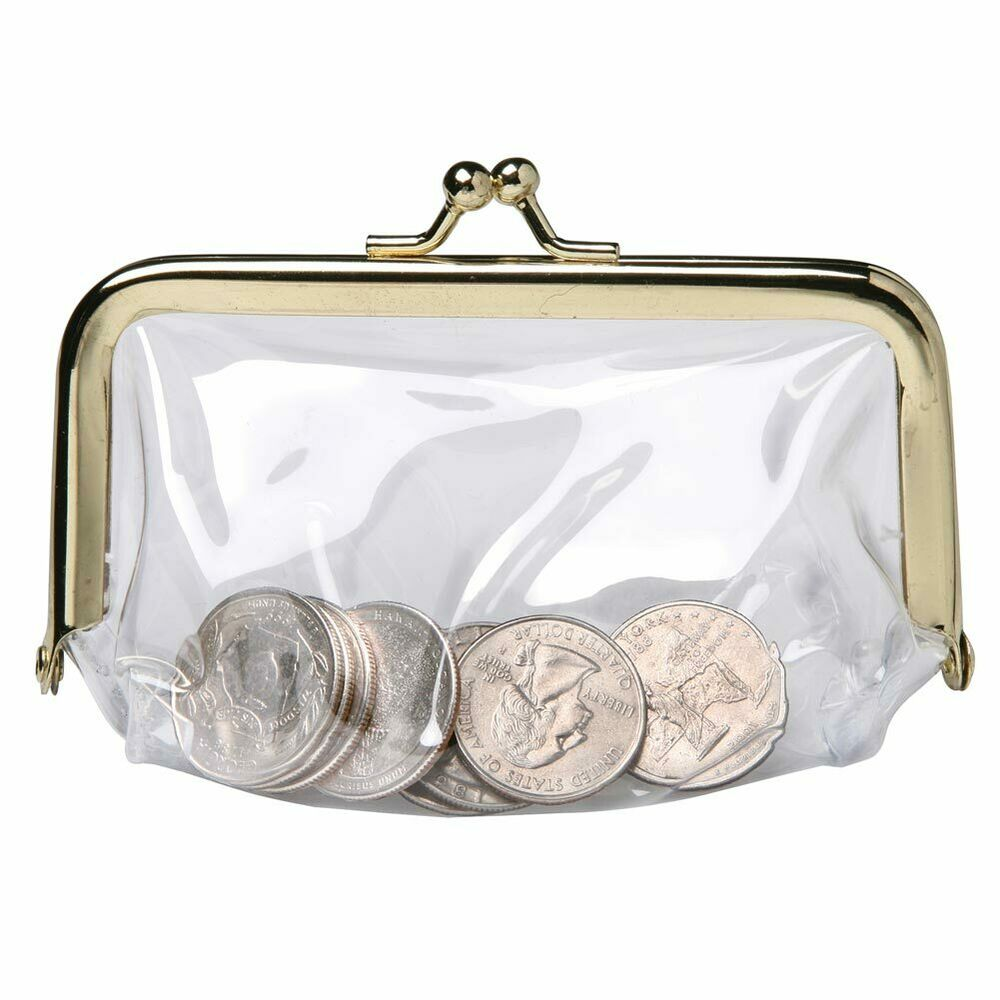 Change Coin Purse Pouch See Through Clear Vinyl See
