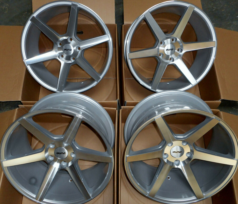 """19"""" SILVER STAGGERED IFG3 ALLOY WHEELS 5X120 BMW E90 E91"""