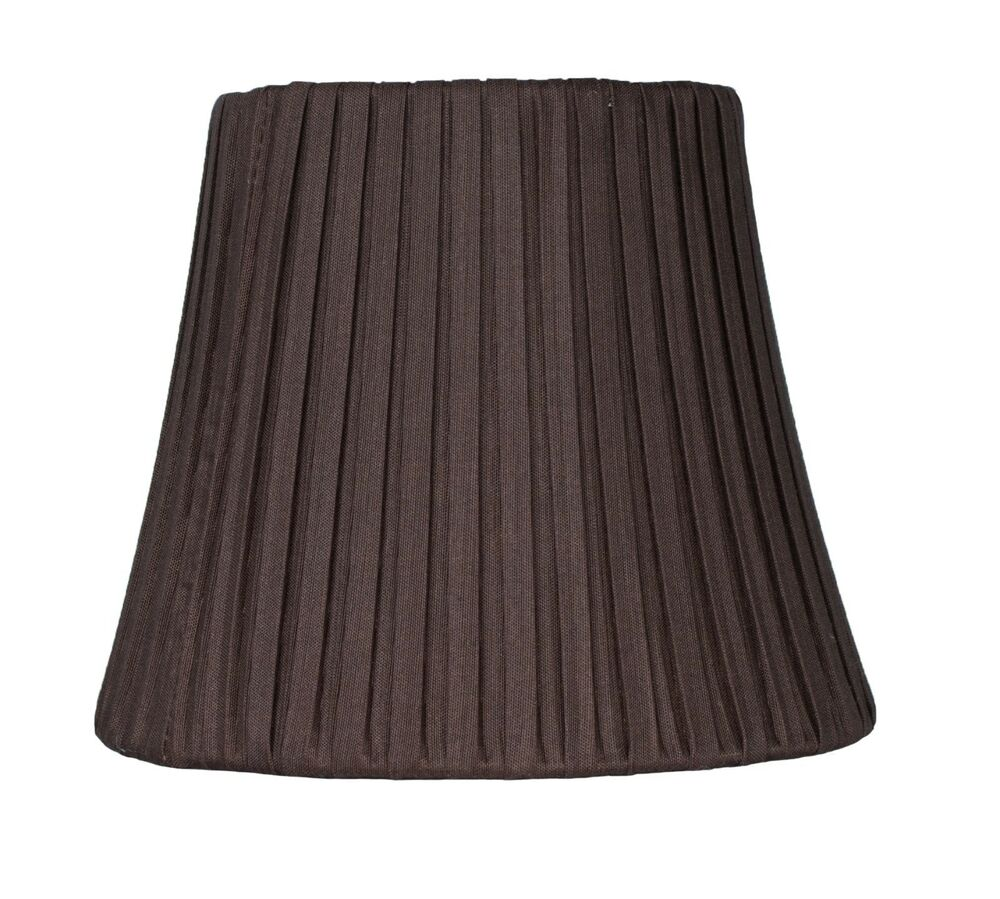 Urbanest box pleated chandelier lamp shade chocolate 6 inch softback