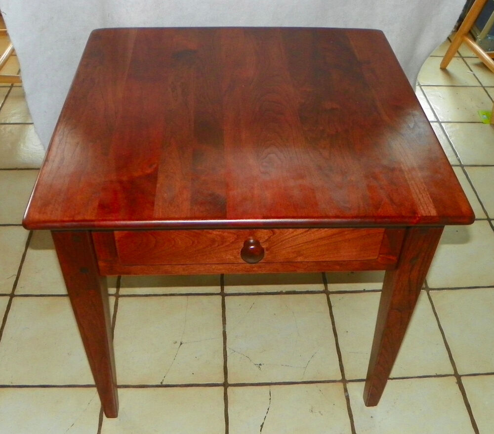 Cherry Side Table ~ Solid cherry end table side by century bm t