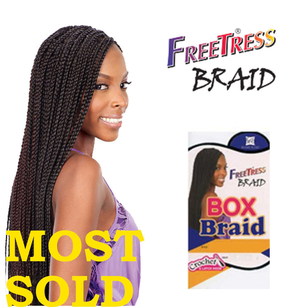 Freetress Crochet Box Braids Medium : FreeTress Medium Box Braids Shake-N-Go Crochet Latch Hook Braiding ...