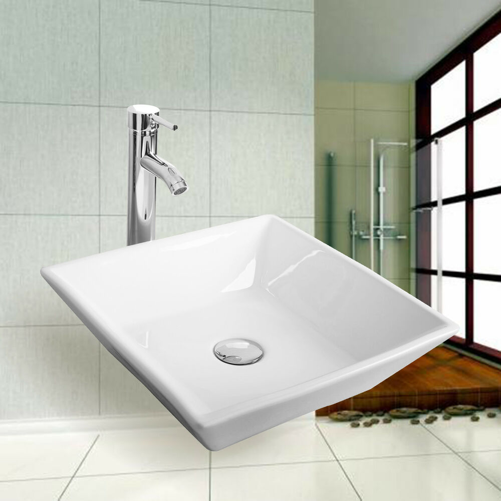 New white modern design bathroom ceramic vessel sink for Latest bathroom sinks