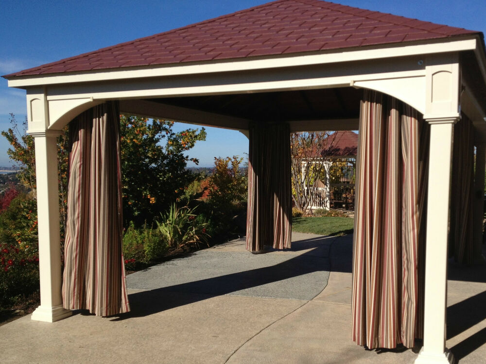 Stripes sunbrella custom outdoor curtains 123 to 132 - Custom made outdoor curtains ...