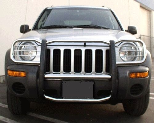Jeep Grill Guards And Bumpers : Apu  jeep liberty stainless grille grill brush