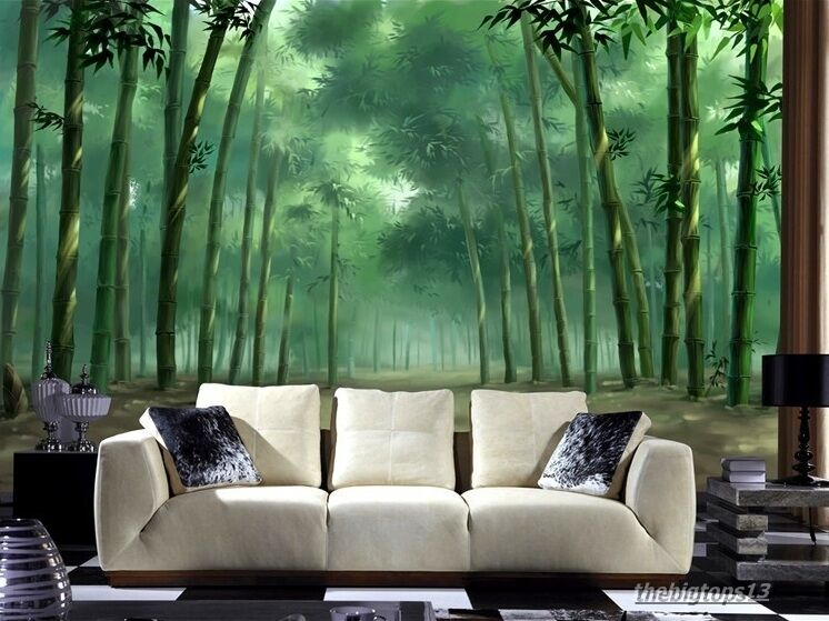 3D Wallpaper Bedroom Mural Roll Nature Scenery Forest Tree Wall Background TV