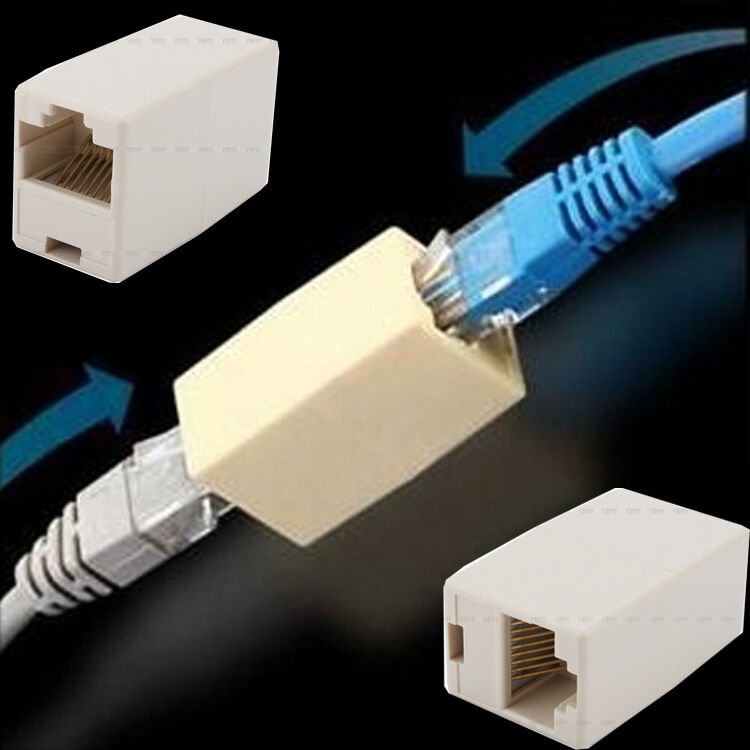 Cat 5 Connectors : Network ethernet lan cable joiner coupler connector