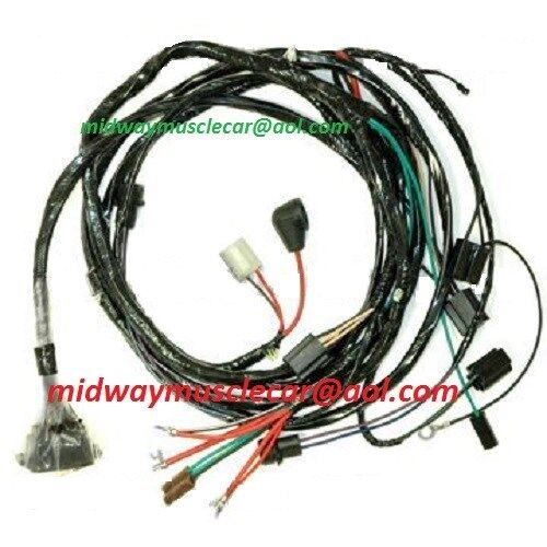 engine & front light wiring harness kit v8 66 chevy ... el camino wiring harness ebay