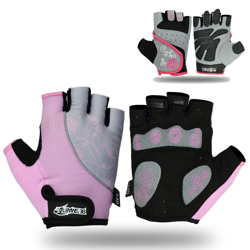Hompo Ladies Gloves Bodybuilding Fitness Weight Lifting: Ladies Gel Gloves Fitness Gym Wear Weight Lifting Workout