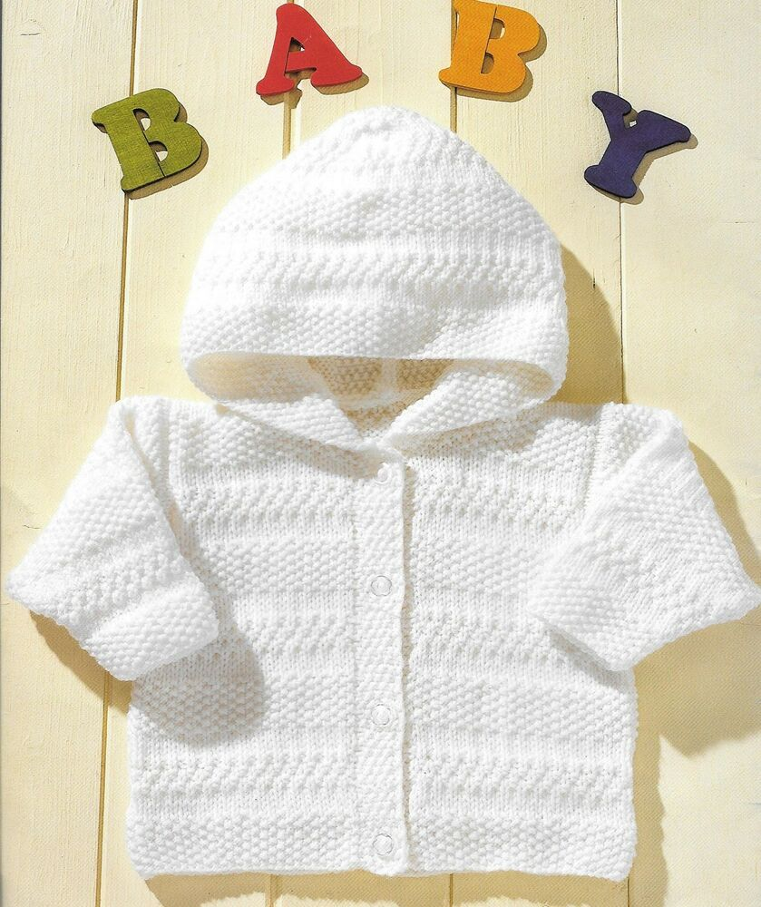 Vintage Baby Knitting Pattern, Hooded and V Neck Jacket 0 - 5 Years, DK eBay