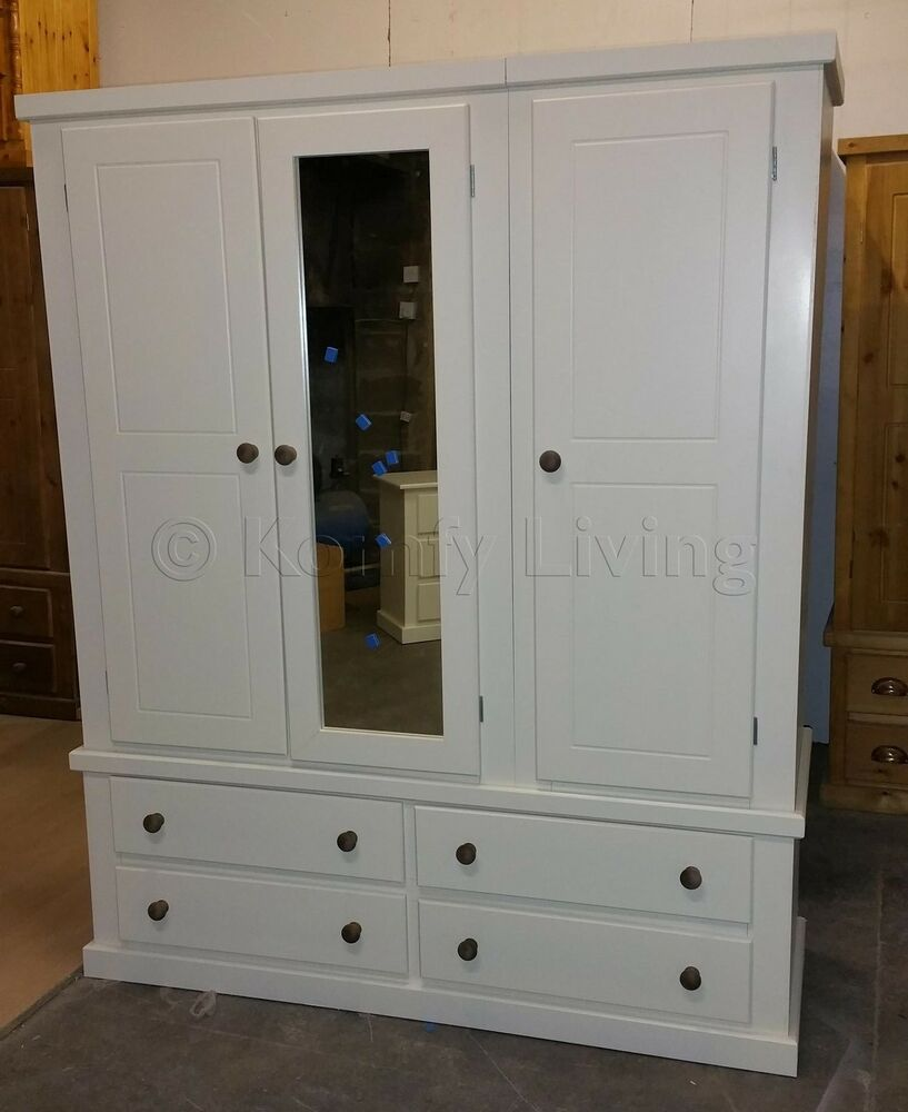 door wardrobe with drawers made 3 door banbury white drawer mirror 4