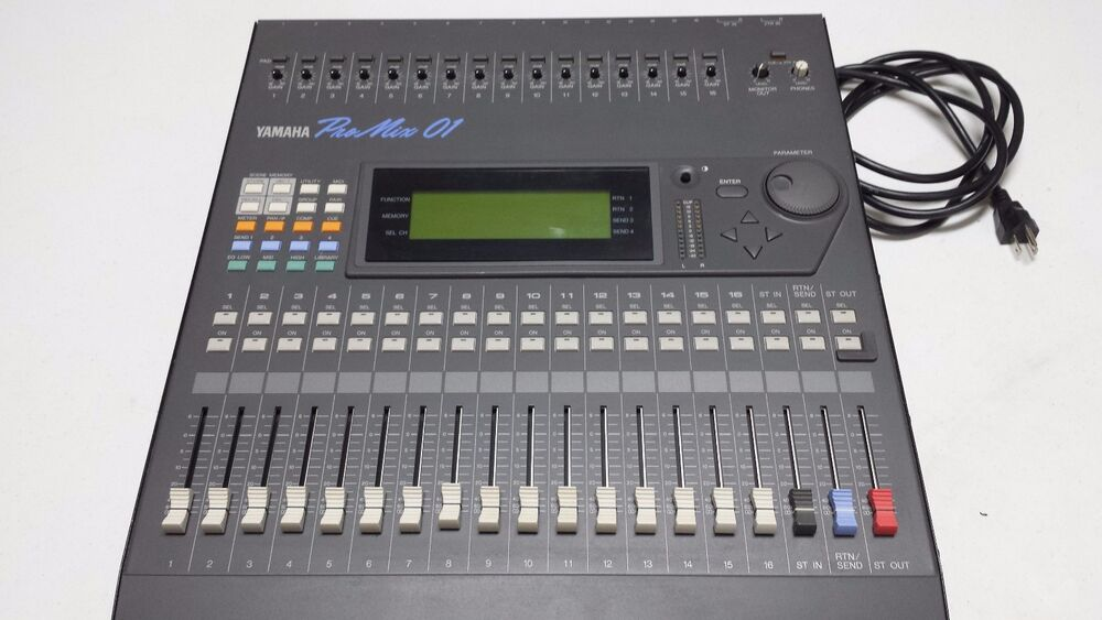 yamaha promix 01 digital mixer ebay. Black Bedroom Furniture Sets. Home Design Ideas