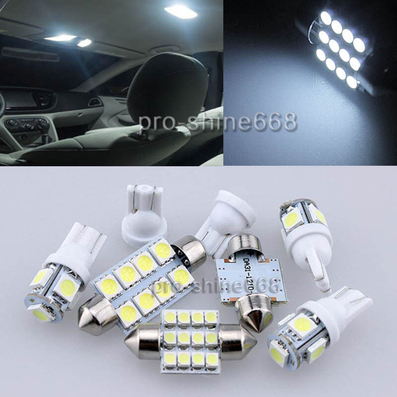 10pcs White Smd Led Lights Interior Package For Chevy Silverado 2008 2012 Ebay
