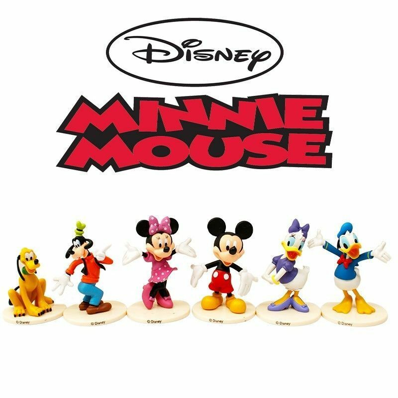 Cake Decor Figurines : Mickey & Minnie Mouse Action Figure Kid Figurines Set Toy ...