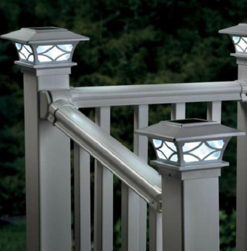 Outdoor Landscape Lighting Garden Post : Fence post cap lights outdoor lawn garden landscape lighting