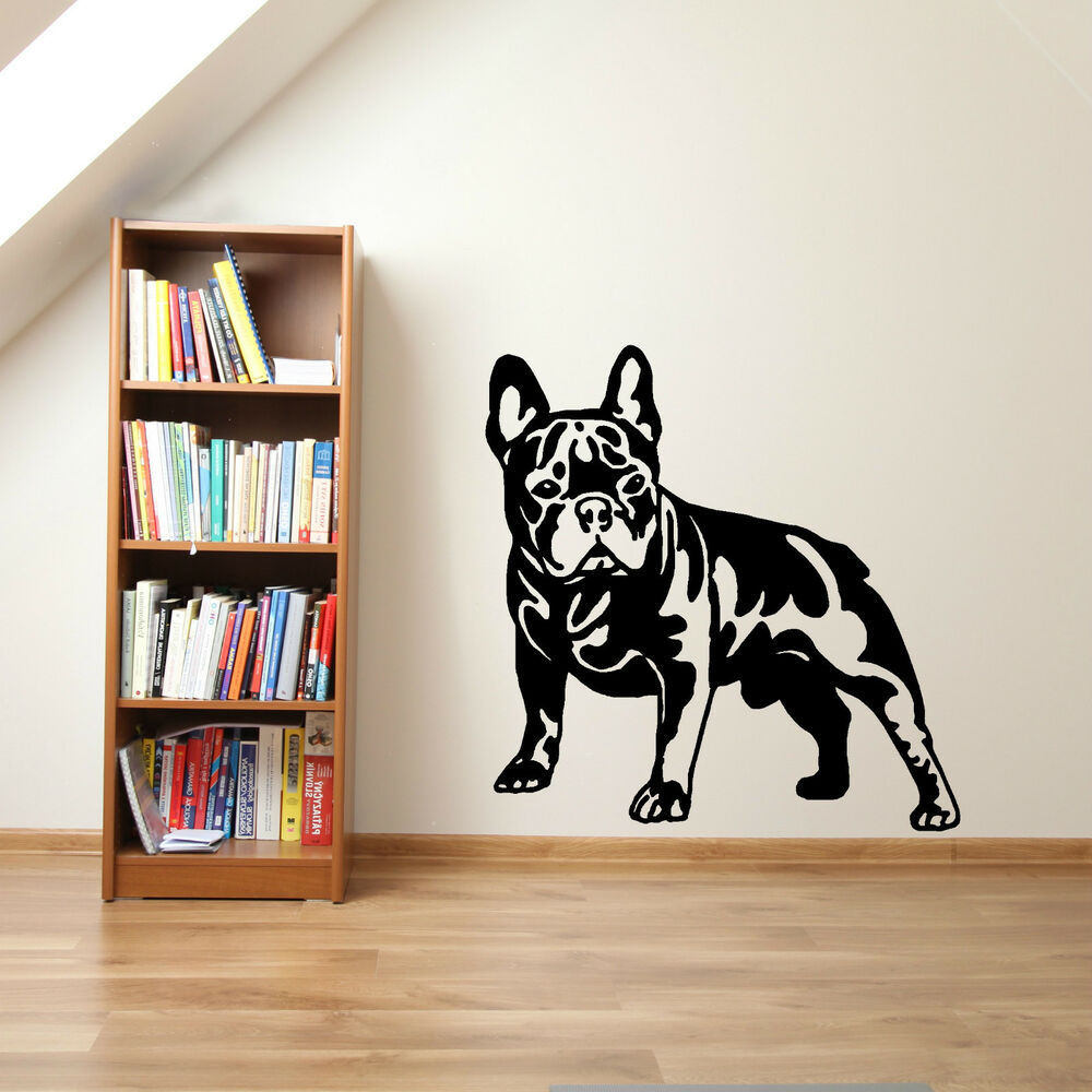 french bulldog dog vinyl wall art sticker decal ebay. Black Bedroom Furniture Sets. Home Design Ideas
