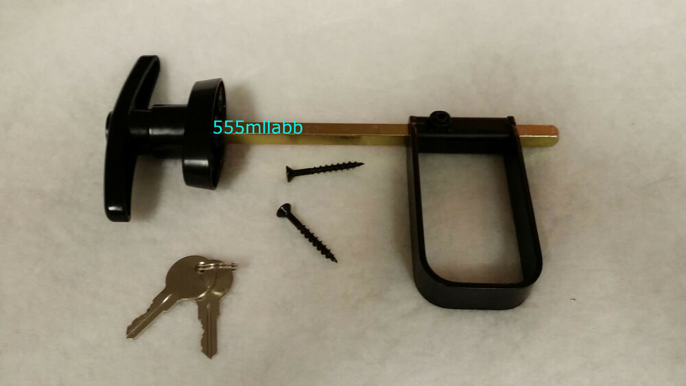 3 1 2 Quot Black T Handle Door Lock Set New Improved For Shed
