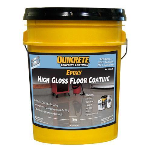 Garage Floors Paint: No.Qk07035 Quikrete Premium 2-Part Epoxy Clear High-Gloss