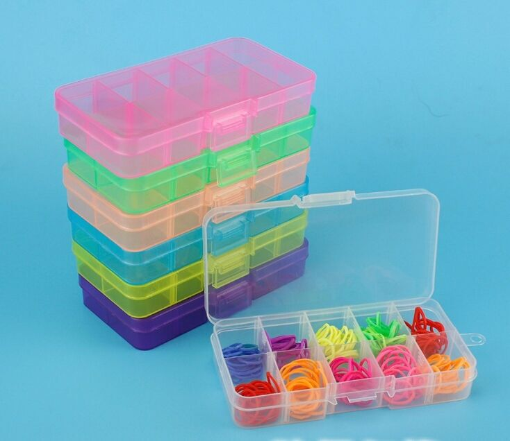 Jewelry storage box case craft organizer beads nail for Craft storage boxes plastic