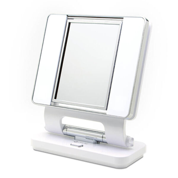 magnifying 5x 1x lighted magnifying makeup mirror white ebay. Black Bedroom Furniture Sets. Home Design Ideas