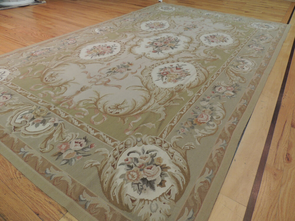 Superb French Aubusson Design Oriental Area Rug Carpet 5x7