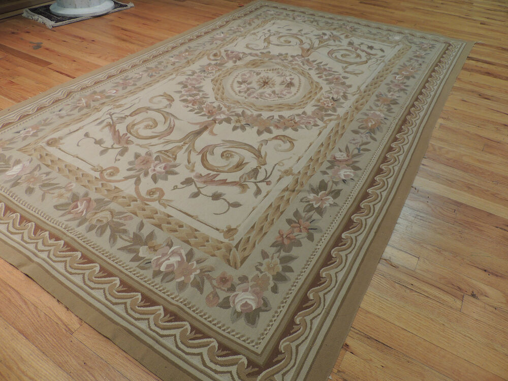Lovely French Aubusson Design Oriental Area Rug Carpet 5x8