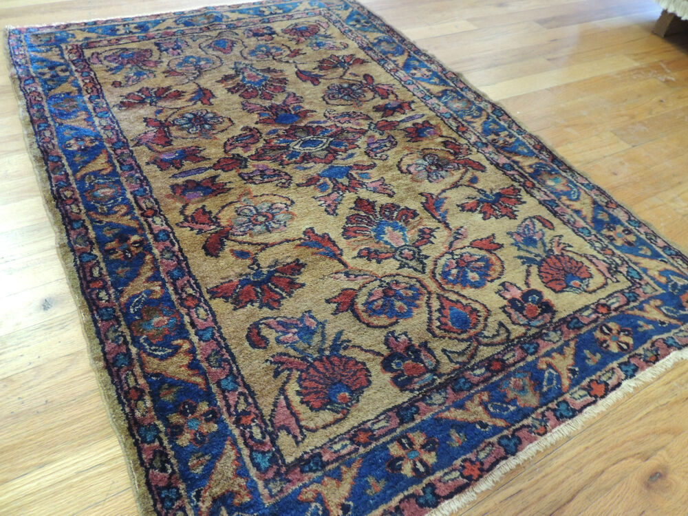 Lovely Small Antique Persian Lilihan Oriental Area Rug