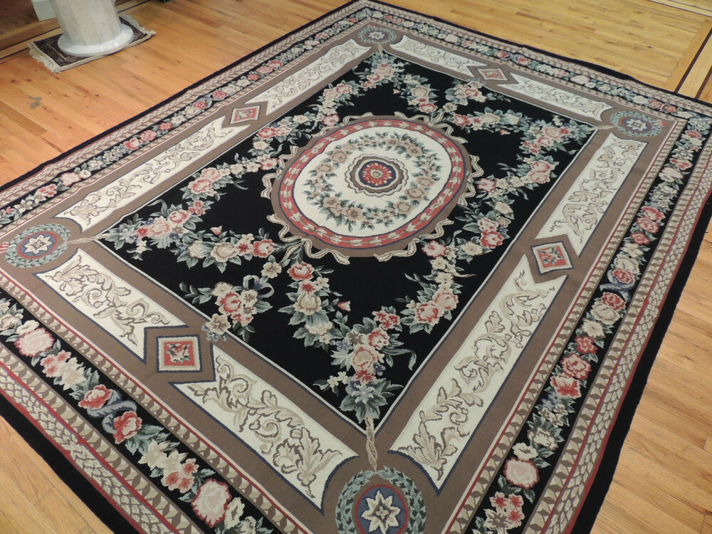 French Oriental Rugs : French aubusson design needlepoint oriental area rug