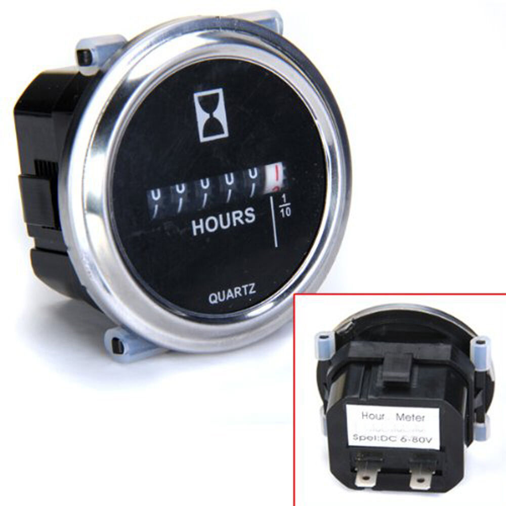 Marine Engine Hour Meter : V hour meter for marine boat engine quot round
