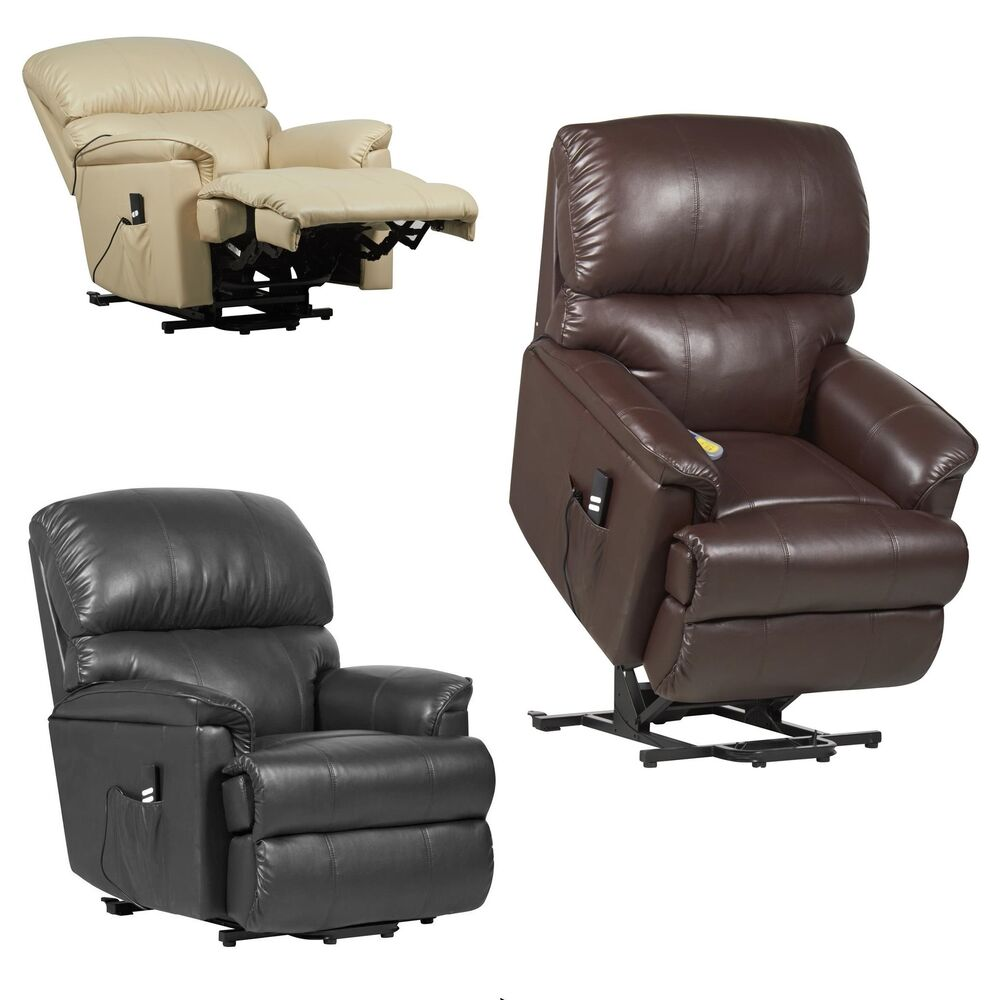canterbury dual motor leather electric riser and recliner chair heat